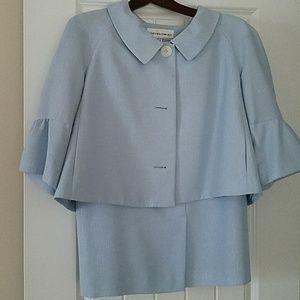 Light Blue Skirt Suit